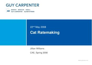 Cat Ratemaking