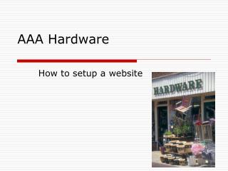AAA Hardware