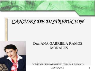 Dra. ANA GABRIELA RAMOS MORALES. COMITAN DE DOMINGUEZ, CHIAPAS. MÉXICO MAYO 2010