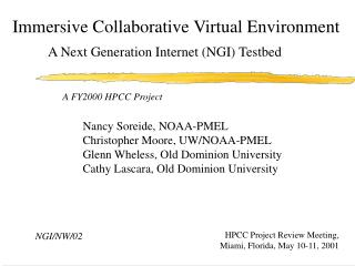 Immersive Collaborative Virtual Environment