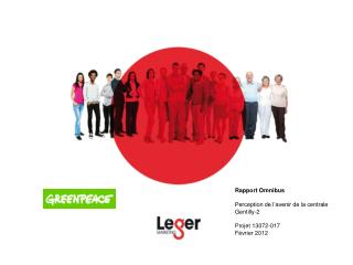Rapport Omnibus Perception de l'avenir de la centrale Gentilly-2 Projet  13072-017 Février 2012