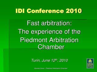 IDI Conference 2010