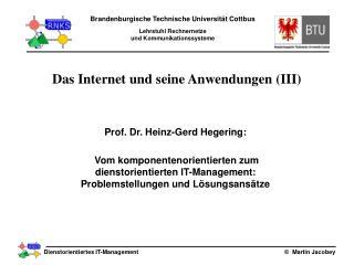 Das Internet und seine Anwendungen (III)