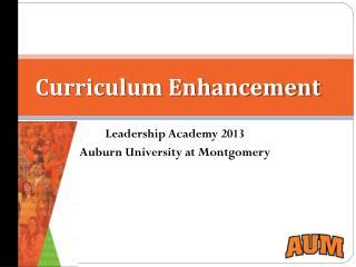 Curriculum Enhancement