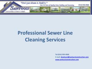 Professional Sewer Line Cleaning Services