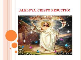 ¡ALELUYA, CRISTO RESUCITÓ!