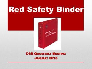 Red Safety Binder