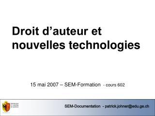 Droit d'auteur et nouvelles technologies