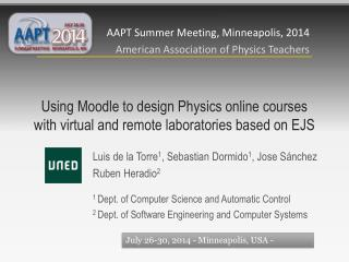 Using Moodle to design  Physics  online courses with virtual and remote laboratories based on EJS