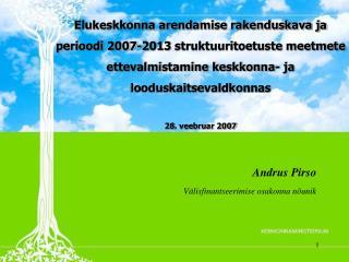 Andrus Pirso Välisfinantseerimise osakonna nõunik