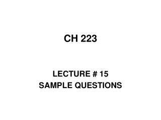 CH 223