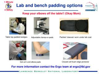 Lab and bench padding options