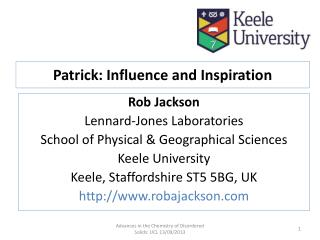 Patrick: Influence and Inspiration