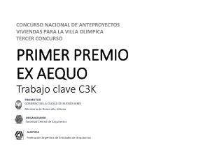 PRIMER PREMIO  EX AEQUO Trabajo clave C3K