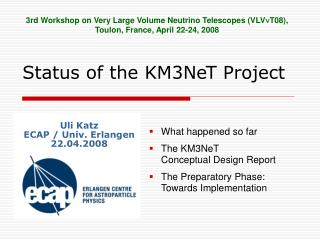Status of the KM3NeT Project