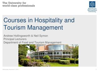 Courses in Hospitality and Tourism Management