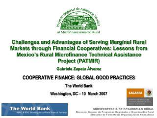 SUBSECRETARÍA DE DESARROLLO RURAL Dirección General de Programas Regionales y Organización Rural