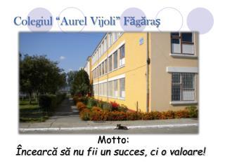 "Colegiul ""Aurel Vijoli""  Făgăraş"