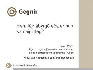 Bera fáir ábyrgð eða er hún sameiginleg?