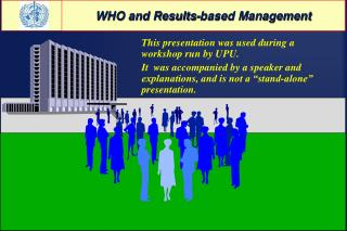 WHO and Results-based Management