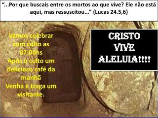 CRISTO Vive Aleluia!!!!