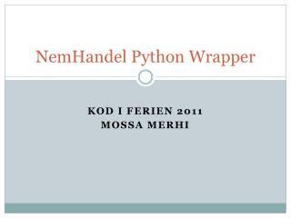 NemHandel Python Wrapper