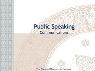 Public Speaking Communications