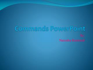 Commands PowerPoint