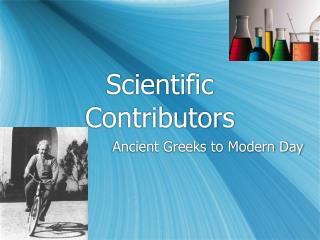 Scientific Contributors