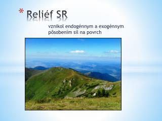 Reliéf SR
