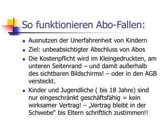 So funktionieren Abo-Fallen: