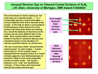 Four bright features from surface electron gas