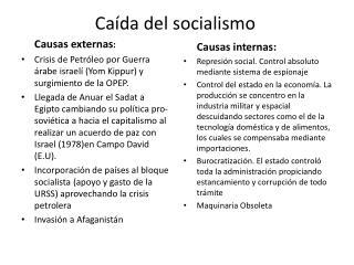 Caída del socialismo