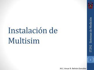 Instalación de  Multisim