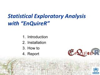 "Statistical Exploratory Analysis with ""EnQuireR"""