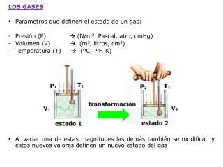 LOS GASES Parámetros que definen el estado de un gas: