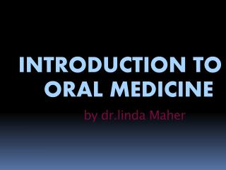 by dr.linda Maher