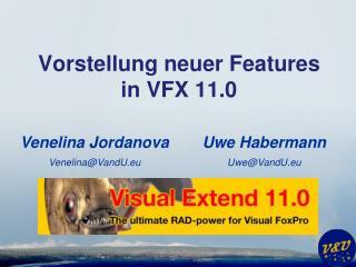 Vorstellung neuer Features in VFX 11.0