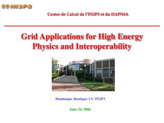 Grid Applications for High Energy Physics and Interoperability