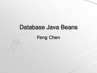 Database Java Beans