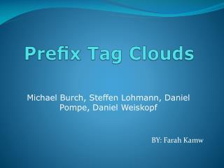 Prefix Tag Clouds