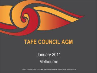 TAFE COUNCIL AGM