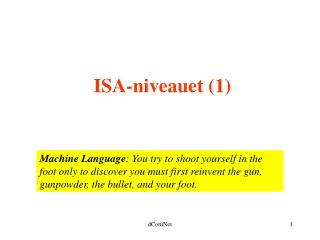 ISA-niveauet (1)