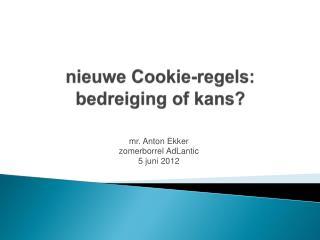 nieuwe  Cookie-regels : bedreiging of kans?