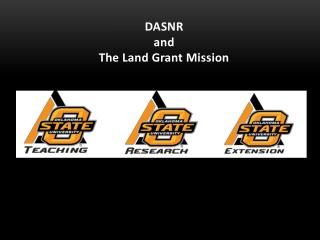 DASNR and The Land Grant Mission