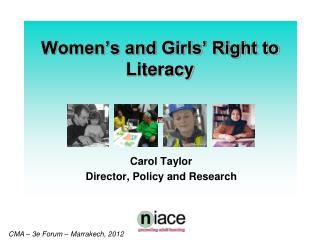 Women's and Girls' Right to Literacy