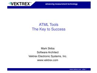 ATML Tools The Key to Success