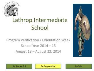 Lathrop  Intermediate School