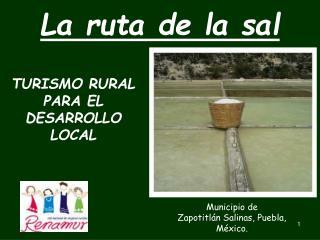 TURISMO RURAL  PARA EL DESARROLLO LOCAL