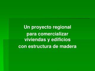 Un proyecto regional  para comercializar viviendas y edificios con estructura de madera